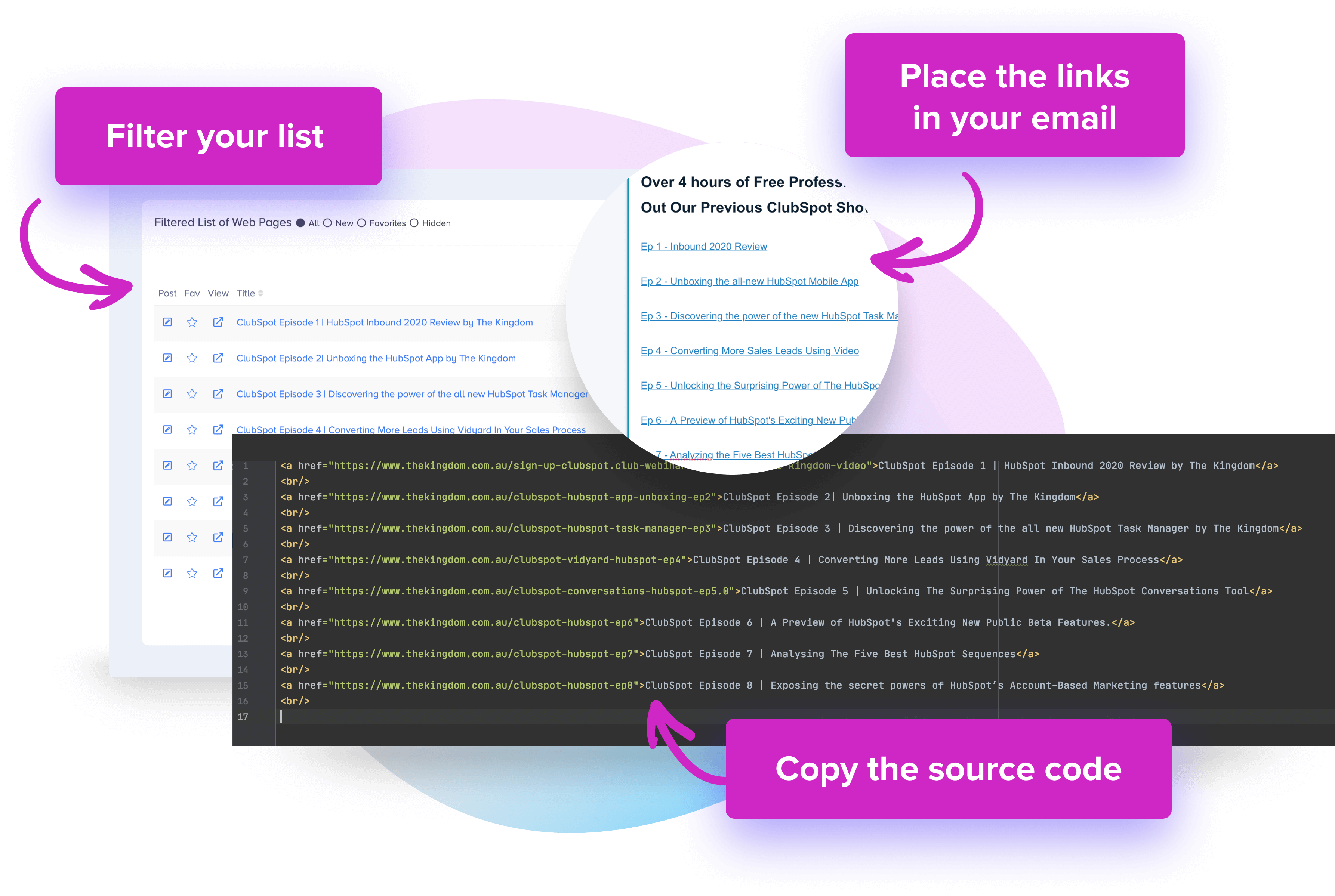 Copy Source Code into Email